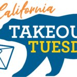 CA Take-Out Tuesdays bear delivering food box to California